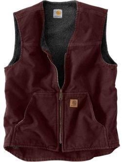 Men's Big And Tall Sherpa Lined Sandstone Rugged Vest V26
