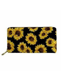 FOR U DESIGNS Women Zip Around Long Wallet PU Phone Clutch Travel Card Holder Purse
