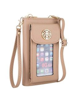 Heaye Crossbody Cell Phone Purse for Women Wristlet Wallet with Phone Holder RFID