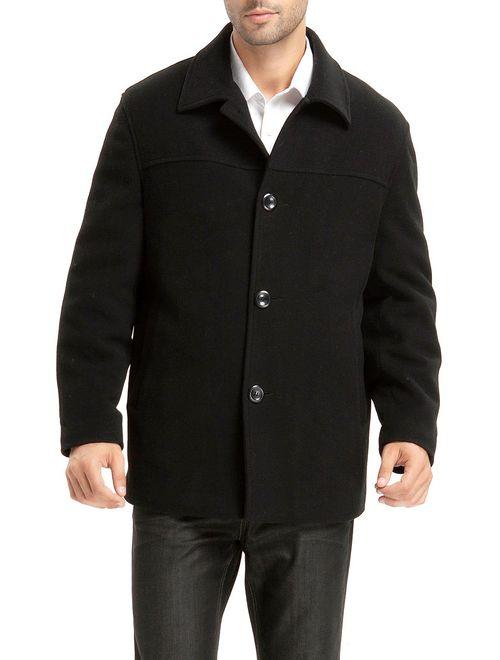 BGSD Men's Matthew Wool Blend Car Coat (Regular Big and Tall)
