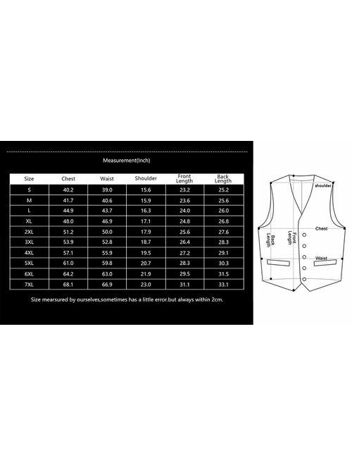 Details about  /SuiSional Men/'s 4pc Classic Jacquard Suit Vests with Tuxedo Necktie Handkerchief