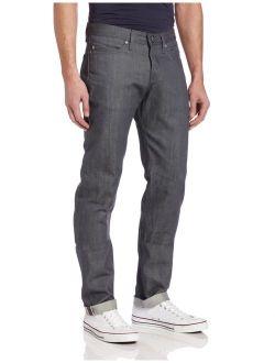 Naked & Famous Denim Men's WeirdGuy Low-Rise Tapered-Leg Jean In Grey Selvedge