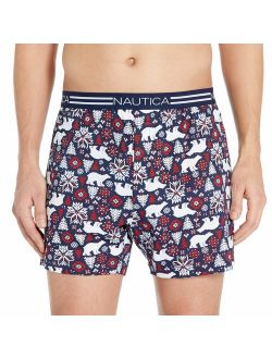 Men's Classic Cotton Exposed Waistband Knit Boxer.