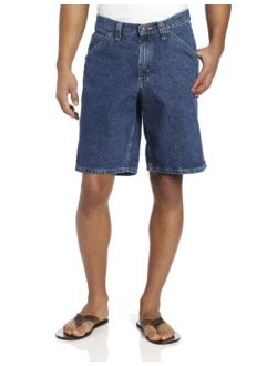 Men's Solid Rregular Fit Ziper Fly Carpenter Denim Short