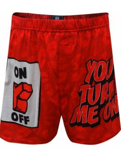 Briefly Stated You Turn Me On Love Style Men's Boxer Shorts