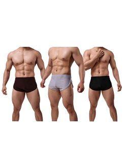 Banana Bucket Men's Split Side Sexy Breathable Boxer Underwear