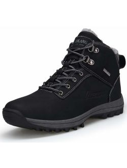 TSIODFO Women Winter Hiking Snow Boots The Cold All Weather with Fur Warm Outdoor Backpacking tekking Climbing Shoes