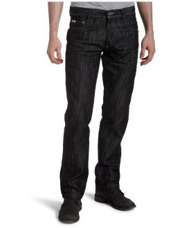 Men's Big And Tall Relaxed Fit Basic Shiny Streaky Denim