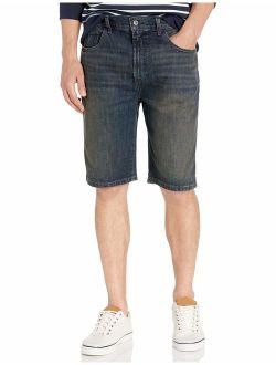 Men's Relaxed Fit 5 Pocket 100% Cotton Denim Jean Short