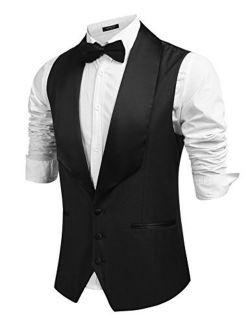 Men's V-neck Slim Fit Dress Suit Sleeveless Vest Waistcoat