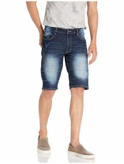 Men's Fashion Denim Biker Shorts
