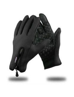 Winter Windproof Full Finger Touch Screen Gloves Cycling HFON
