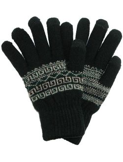 CTM Fairisle Touchscreen Gloves (Men's)