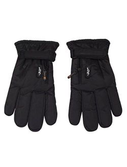 Peach Couture Mens Weatherproof Insulated Waterproof Winter Snow Ski Gloves Black 78