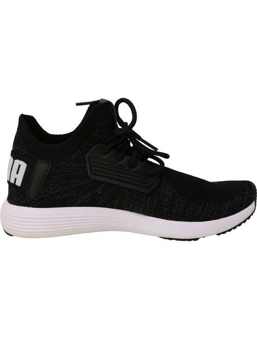 Puma Women's Uprise Knit Black / Iron Gate White Ankle-High Sneaker - 9M