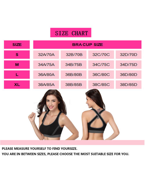 LELINTA Women's Sports Bra Seamless Paded Racerback Support for Gym Workout Fitness Yoga Bra Five Color Size S-XL