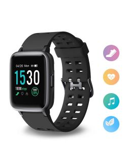 """JUMPER Fitness Tracker Fitness Smart Watch Heart Rate Monitor 1.3"""" Large Color Screen IP68 Waterproof Activity Tracker w/ 14 Sports Mode, Sleep Monitor, Pedometer Smart W"""