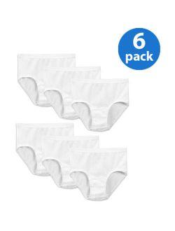 White Cotton Briefs, 6 Pack (little Girls & Big Girls)