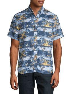 Tropical Island Linen Shirt