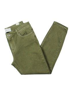 Current/Elliott Womens The Fling Denim Cuffed Boyfriend Jeans