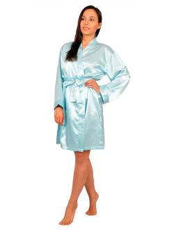 Up2date Fashion's Women's Solid-Color Short Robe
