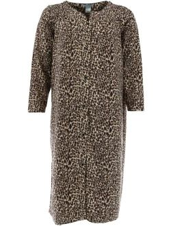 Elegant Emily Micro Fleece Snap Front Duster Robe (Women's Plus Size)