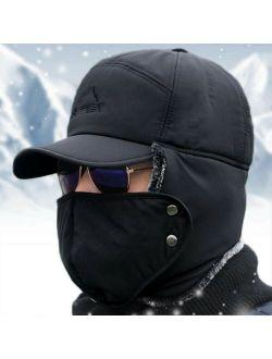 Mens Winter Russian Aviator Bomber Hat Trooper Ear Flap Snow Ski Elmer Fudd Cap