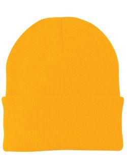Mafoose Men's 3-Inch Fold Knit Cap Athletic Gold