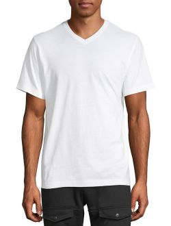 Men's And Big Men's Short Sleeve Jersey V-neck, Up To Size 3xlt