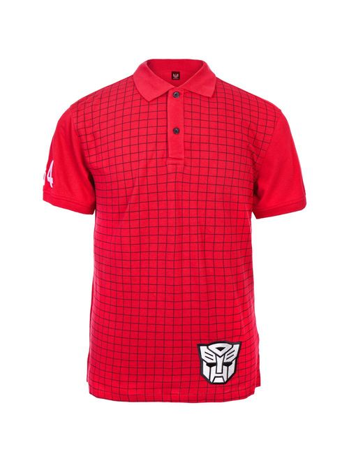 transformers autobots patch cartoon adult button up polo shirt t-shirt