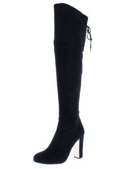 Material Girl Womens Priyanka Faux Suede Round Toe Over-The-Knee Boots