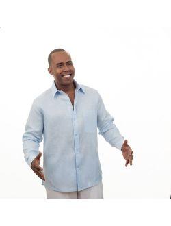 Tropical Florida sun pure linen shirt SIZE:2X COLOR:BL