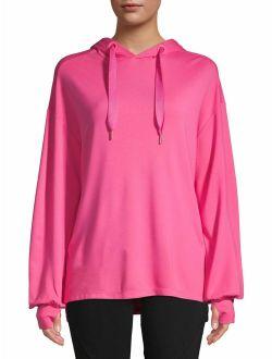 Women's Athleisure Long Sleeve Tunic Hoodie