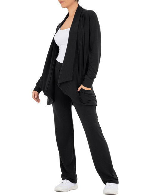 Athletic Works Women's Athleisure French Terry Cardigan