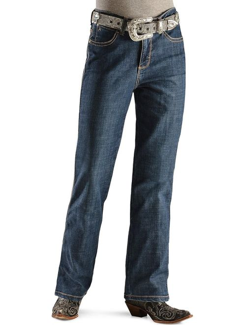 wrangler women's aura instantly slimming jean, blue legend, 12 tall