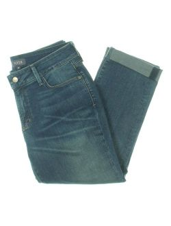NYDJ Womens Jessica Relaxed Cropped Boyfriend Jeans Blue 6P