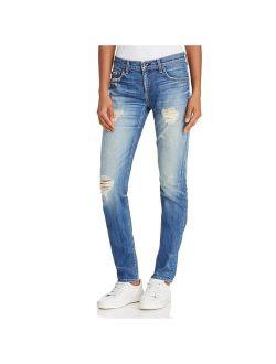 Rag & Bone Womens Skinny Whisker Wash Boyfriend Jeans Blue 29