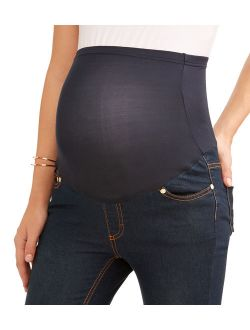 Oh! Mamma Maternity Overbelly Boyfriend Skinny Jean - Available in Plus Sizes
