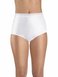 Women's Nylon Brief Panties, 6-pack