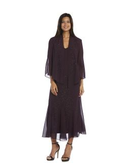 R & M Richards Purple Jacket Dress