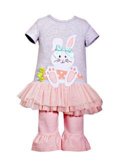 Newborn Baby Girls Cute Peach Carrot Easter Bunny Tutu Set 6-9 months