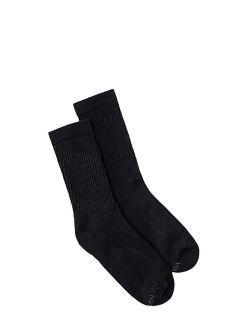 Women's Cushioned Crew Socks, 10 Pack, Black, 5-9