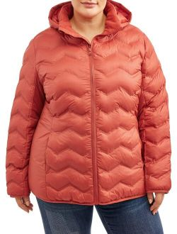 Women's Plus Size Puffer Coat With Hood