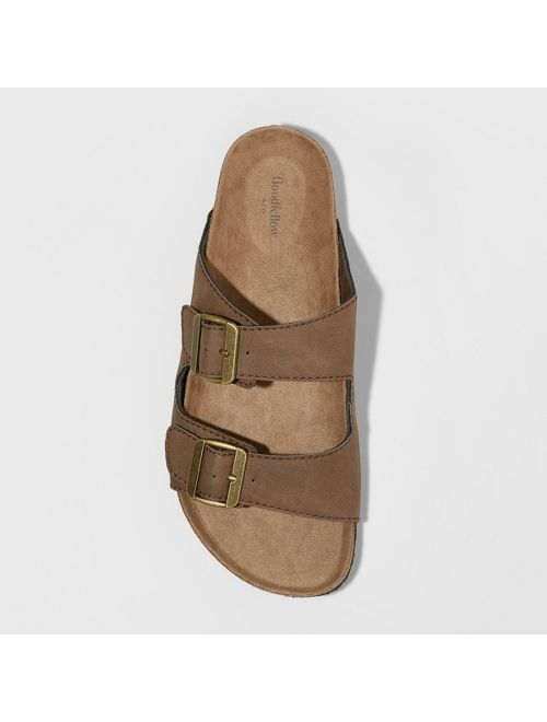 Men's Ashwin Footbed Sandals - Goodfellow & Co™ Brown