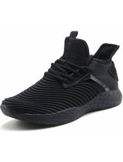 Weweya Men's Sneakers Ultra Lightweight Tennis Shoes Athletic Gym Walking Shoes