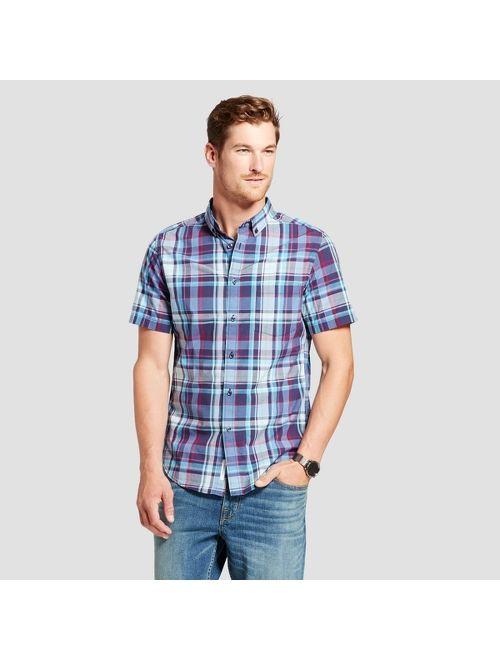 Men's Short Sleeve Poplin Button-Down Shirt - Goodfellow & Co™