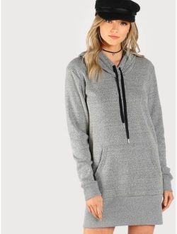 Soft Knit Hoodie Dress GREY