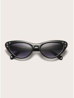 Cat Eye Acrylic Frame Sunglasses With Case
