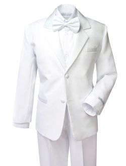 Boys' Classic Fit Tuxedo Set White