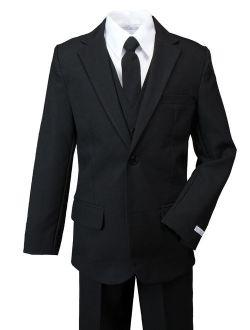 Boys' Modern Fit Dress Suit Set Black